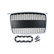GRILL AUDI A3 8P RS-STYLE SILVER-BLACK (05-08)