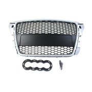 GRILL AUDI A3 8P RS-STYLE SILVER-BLACK (07-12)