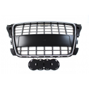 GRILL AUDI A3 8P S8-STYLE CHROMED BLACK (09-12)