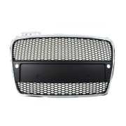 GRILL AUDI A4 B7 RS-STYLE CHROME-BLACK (05-08) PDC
