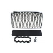 GRILL AUDI A4 B7 RS-STYLE SILVER-BLACK (04-08)